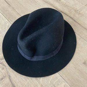 Black Slightly Floppy Black Hat